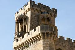 Slott av det Olite tornet - Spanien Arkivbild