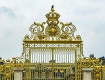 Slott av detaljen för Versailles ingångsport Royaltyfri Fotografi
