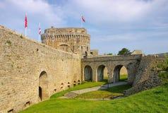 Slott av Dinan i Brittany Arkivbild