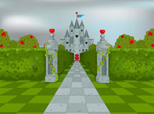 Slott av drottningen av hjärtor Royaltyfria Bilder