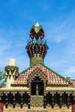 Slott av El Capricho av arkitekten Gaudi, Spanien Royaltyfri Fotografi