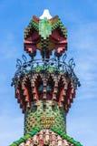 Slott av El Capricho av arkitekten Gaudi, Spanien Royaltyfri Foto