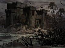 Slott av fördömd Royaltyfri Illustrationer