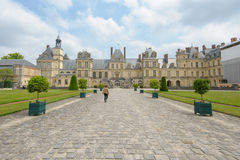 Slott av Fontainebleau i Frankrike Royaltyfria Foton