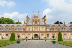 Slott av Fontainebleau i Frankrike Royaltyfri Fotografi