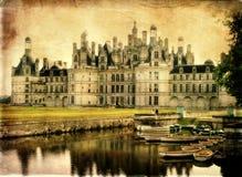 Slott av Frankrike serier Arkivbilder