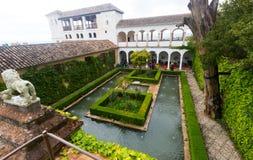 Slott av Generalife granada spain Royaltyfri Foto