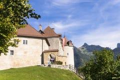Slott av gruyère Royaltyfria Foton