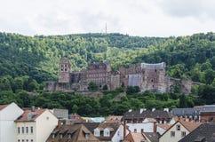 Slott av Heidelberg Arkivfoto