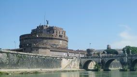 Slott av helgonängeln Rome fotografering för bildbyråer