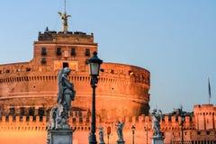 Slott av helgonet Angelo i Rome arkivbilder