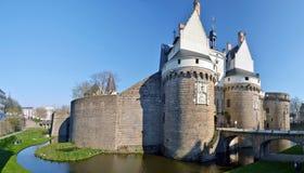 Slott av hertigarna av Brittany i Nantes Royaltyfri Bild