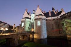 Slott av hertigarna av Brittany (Nantes - Frankrike) Arkivbilder