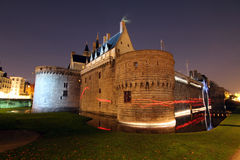 Slott av hertigarna av Brittany (Nantes - Frankrike) Royaltyfri Fotografi