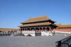 Slott av himla- renhet Qianqinggong i Forbidden City, Peking royaltyfri bild