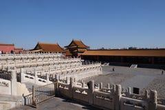 Slott av himla- renhet Qianqinggong i Forbidden City, Peking royaltyfria foton