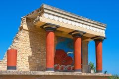 Slott av Knossos crete greece Royaltyfri Fotografi