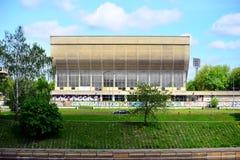 Slott av konserter och sportar i Vilnius lithuania Arkivbilder