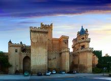 Slott av konungarna av Navarre av Olite Royaltyfria Foton