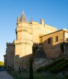 Slott av konungarna av Navarre på Olite Arkivbilder