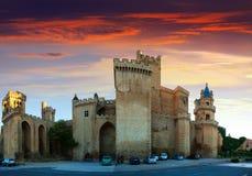 Slott av konungarna av Navarre på Olite Arkivfoton