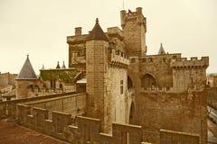 Slott av konungarna av Navarre på Olite Royaltyfria Bilder