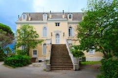Slott av konungen Nikola Topolica Palace i stången, Montenegro Fotografering för Bildbyråer