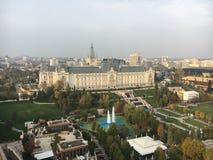 Slott av kultur i Iasi, Rumänien royaltyfria foton