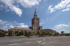 Slott av kultur och vetenskap i Warsaw royaltyfri bild