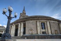 Slott av kultur och vetenskap i Warsaw arkivbild