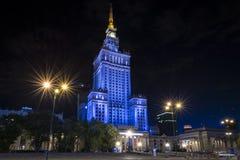 Slott av kultur och vetenskap i Warsaw, Polen fotografering för bildbyråer