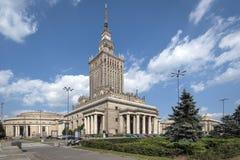 Slott av kultur och vetenskap i Warsaw, Polen Royaltyfri Bild