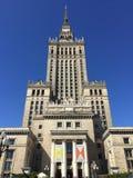 Slott av kultur och vetenskap i Warszawa Polen royaltyfri fotografi