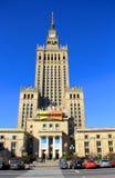 Slott av kultur och vetenskap, Warsaw Fotografering för Bildbyråer