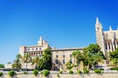 Slott av La Almudaina, Palma, Spanien Arkivbild