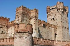 Slott av La Mota Arkivbild