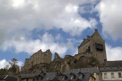 Slott av Larochette, Luxembourg Arkivfoto