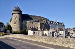 Slott av Laval i Frankrike Arkivfoto