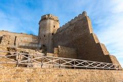 Slott av Le Castella på capoen Rizzuto, Calabria, Italien Royaltyfri Bild