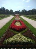 Slott av Lednice - trädgård royaltyfri fotografi