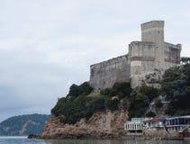 Slott av Lerici i Liguria, Italien Arkivfoton