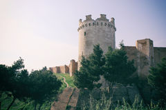 Slott av Lucera Royaltyfria Bilder