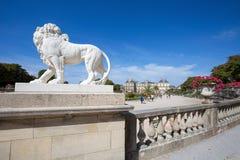Slott av Luxembourg trädgårdar, Paris, Frankrike arkivbilder