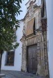 Slott av markiser för Viana ` s, tidigare bekant som slotten av gallren av Don Gome, byggande av det XIVth århundradet av stilman Fotografering för Bildbyråer