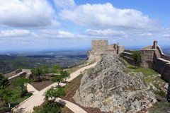 Slott av Marvao Royaltyfria Bilder