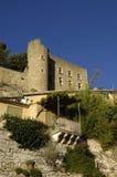 Slott av Menerbes, Provence, arkivfoton