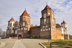 Slott av Mir, Vitryssland Royaltyfri Fotografi