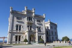 Slott av Miramare Arkivbild