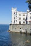 Slott av Miramare Arkivfoton