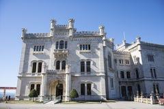 Slott av Miramare Royaltyfri Bild